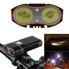 Waterproof Bike Bicycle Front Light USB Flashlight Cycling 2* 18650 Lamp Torch