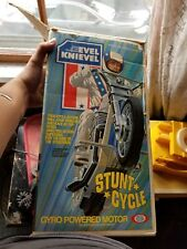 Evel Knievel Stunt Cycle & Launcher 70s Toys Evil Action Figure Doll & Helmet NR