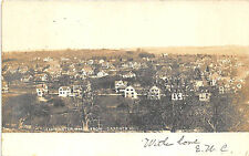 Leominster MA Birds Eye View From Gardner Hill in 1907 RPPC Postcard