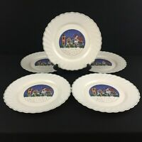 Set of 5 VTG Dinner Plates by Arcopal Holiday Village Christmas Winter France
