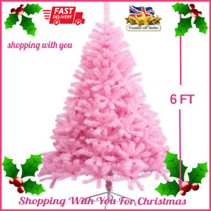 6 Foot Artificial Christmas Tree Pink Xmas Tree with 700 Tips High End Quality