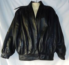 Women's Black Leather Jacket Size Large