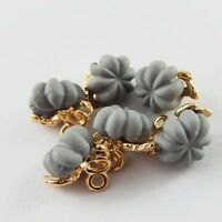 10pcs Gray Alloy Electroplated Halloween Pumpkin Pendant Charms DIY Accessories