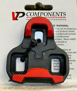 Bike Clipless Pedal Cleats VP Components Perfect Placement Keo 9 Degree Red