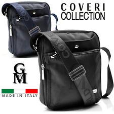Borsello made in italy COVERI uomo borsa spalla impermeabile passeggio nero blu