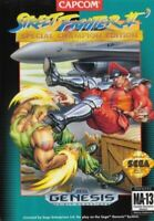 Street Fighter II' Special Champion Edition For Sega Genesis Vintage