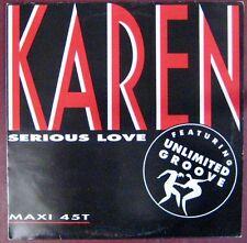 Karen Cheryl Maxi 45 tours Promo Serious Love 1991