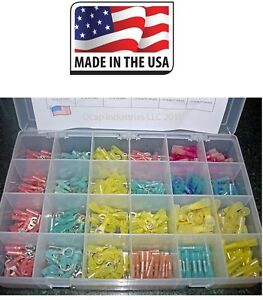 3M Heat Shrink Wire (480) Terminals Kit ALL TYPES MARINE AUTO Made in USA