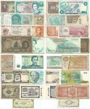 GROUP of 15 DIFFERENT Used But Decent WORLD BANKNOTES Nice WORLDWIDE VARIETY