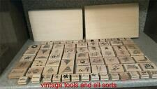 Wooden Rubber Stamp Set 74 Piece Set Stamping Crafts Assorted Rubber Stamps