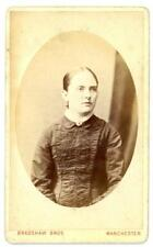 Lady on cdv by Bradshaw Bros of Deansgate in Manchester