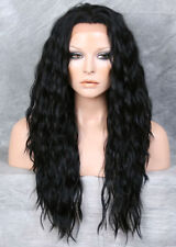 HEAT SAFE Lace Front wig Wavy Black Curly NUO 1
