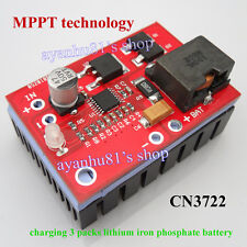 CN3722 MPPT Solar Controller 3A 2S 3S 4S LiFePO4 Cell or Lithium Battery Charger