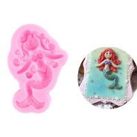 1pc pink Mermaid Silicone mold fondant mold cake decorating tools baking tool JF