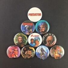 "Predator 1"" Button Pin Set (10 pins) Action Horror Schwarzenegger Alien Classic"