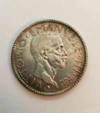 ITALY  KINGDOM  VITTORIO EMANUELE III  1927-R  YR. VI  20 LIRE SILVER COIN  XF+