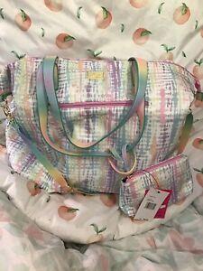 Betsey Johnson Colorful Tie Dye duffel Bag NWT