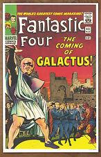 Fantastic Four #48 poster art print '92  Jack Kirby Galactus, Silver Surfer