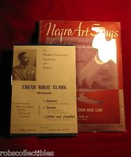 EDGAR ROGIE CLARK (1946 SIGNED) NEGRO ART SONGS Album By Contemporary Composers