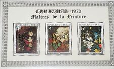 CHAD TSCHAD 1972 607-09 278A DELUXE Christmas Weihnachten Gold ovp Paintings MNH