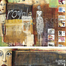 """39""""x27"""" ROYAL POST FOR ME by BRIGIT LORENZ COLLAGE CANVAS"""