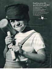 PUBLICITE ADVERTISING  1964   FRED LIP  montre