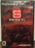"""Driving Emotion Type-S"" Playstation 2 Squaresoft PS2 CIB Rare Racing Game 2001"