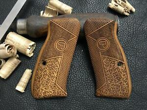 CZ 75 Compact, CZ P-01, CZ 75 D Compact Turkish Walnut Wood Grips. Handmade. A+