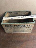 Vintage Atlas Powder Co High Explosives Wooden Box Mining Advertising