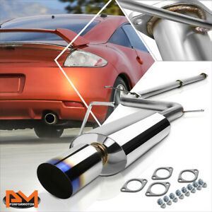 """For 06-09 Mitsubishi Eclipse 4G 2.4L 4"""" Burnt Tip Muffler Catback Exhaust Piping"""