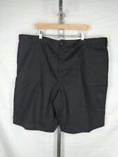"Dickies Shorts Size 46 Mens Black Industrial Flat Front 11"" Inseam New"