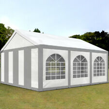 Marquee Partytent 4x6m Party / Event / Wedding Tent 6x4 240g/m² PE grey-white
