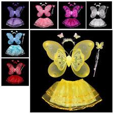 4 Stücke Fee Prinzessin Schmetterling Engels Flügel Kostüm Party Kleid Gebu U1A1