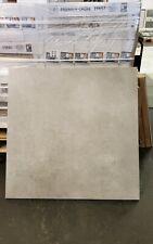 JOB LOT 12M² GREY PORCELAIN FLOOR TILES CONCRETE EFFECT 80 X 80 cm