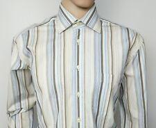 "Gant Mens Dress Shirt Regular Fit Long Sleeve Size L Chest 46"" Barcode Stripe"