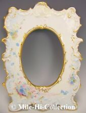 LIMOGES FRANCE HAND PAINTED FORGET ME NOT PICTURE FRAME