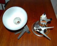 Lot 2 x Spots CREMER Vintage Argent Réflecteur Blanc Pinces