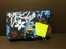 New With Tag Vera Bradley Turn Lock Wallet or Clutch in JAVA FLORAL Pattern