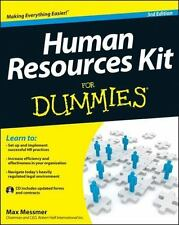 Human Resources Kit for Dummies� by Max Messmer (2012, Paperback)