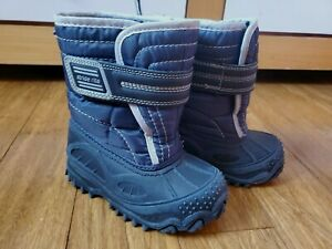 Stride Rite Toddler Boy Winter Snow Boots Shoes Navy Blue 8