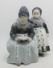 Royal Copenhagen Figurine of Amager Girls Reading by Lotte Benter #1395
