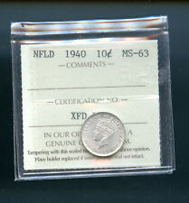 1940 Newfoundland 10 Cents ICCS Certified MS63  MP982
