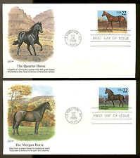 2155-2158 HORSES FDC LEXINGTON, KY SET of 4 FLEETWOOD COVERS