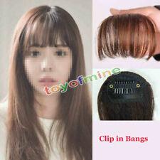 Hair Clip in Bangs Fake Hair Extension False Hair Piece Clip on Front Neat Bang