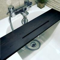 Ash Black luxury handmade wood bath board caddy with iPad / iphone slot