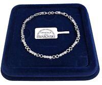 Bracciale Tennis infinito 3mm pl. oro Bianco 18k Uomo Donna,braccialetto SW/CL
