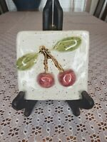 Somi tileworks cherry wall hanging pottery handcrafted MN 4""