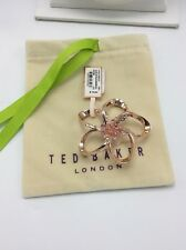 $79 Ted Baker Large Crystal Blossom Brooch Rose Gold  Tone #311