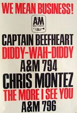 Captain Beefheart 1966 original Poster Advert Diddy Wah Diddy
