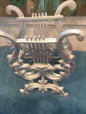 Vintage Silver Painted Magazine Rack Silver Music Musical
